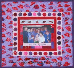red hat quilt pattern photo