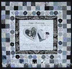 silver wedding remembrance quilt photo